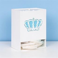 Porta Fralda Belly Coroa Azul MDF