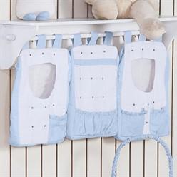 Porta Treco Feito a Mão Azul Bebê