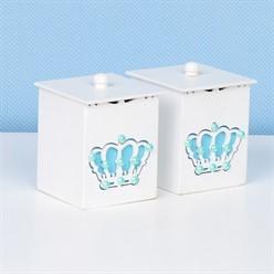 Conjunto de Potes Belly Coroa Azul
