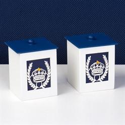 Conjunto de Potes Príncipe Marinho MDF