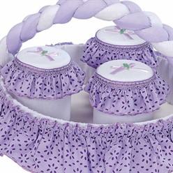 Conjunto de Potes Estampado Lilás