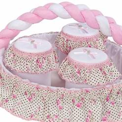 Conjunto de Potes Estampado Rosa