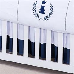 Saia para Berço Realeza Azul Marinho