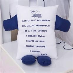 Travesseiro Soninho Oração Azul marinho
