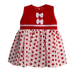 Vestido para Bebê Bolinha Vermelho