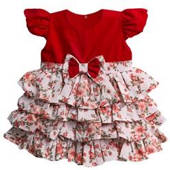 Vestido para Bebê Glamour Floral