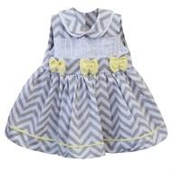 Vestido para Bebê Chevron Amarelo