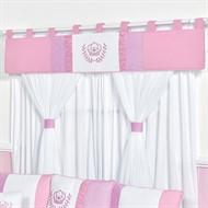 Cortina Realeza Rosa Baby