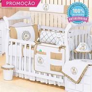 KIT BERÇO TEDDY LOVELY PALHA 10 PEÇAS