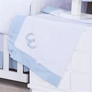 Manta Piquet Realeza Azul Bebê