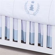 Saia para Berço Realeza Azul Bebê