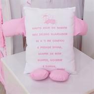 Travesseiro Soninho Oração Rosa