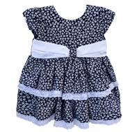 Vestido para Bebê Azul Floral Julia