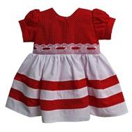 Vestido para Bebê Baby Poá