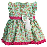 Vestido para Bebê Floral Luxo