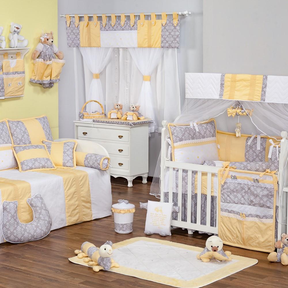 Quarto Completo Retro Amarelo 47 Pe As Mega Loja Do Beb  ~ Quarto De Bebe Lindo E Decoracao Quarto Retro