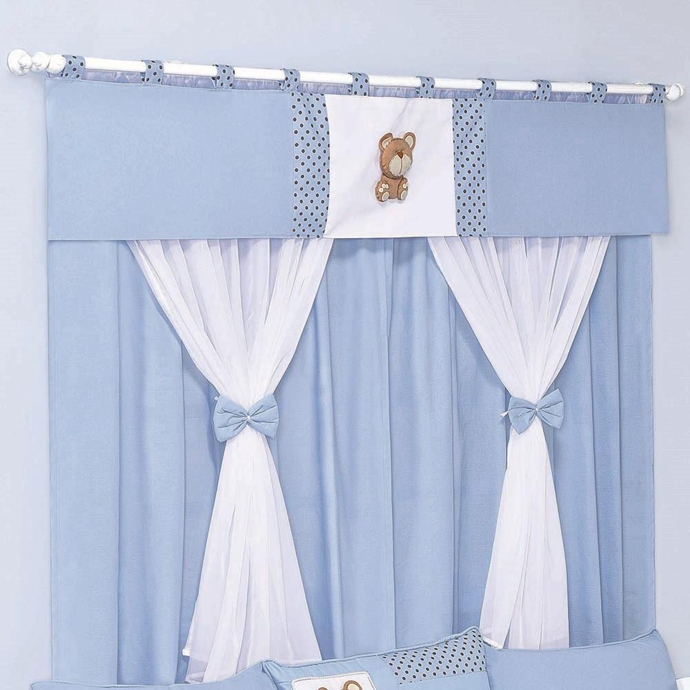 Cortina dupla mimos mega loja do beb for Argollas de plastico para cortinas
