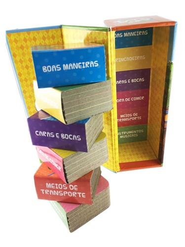 Patati Patatá - Biblioteca divertida- Box Torre com 6 mini livros