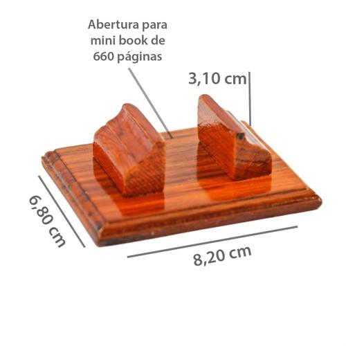Suporte de Madeira p/1 Minil. 660 pg-Evangelho de Allan Kardec ou  Assim Falava Zaratustra