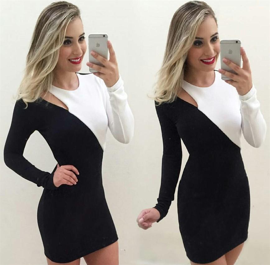 Vestidos preto e branco comprar
