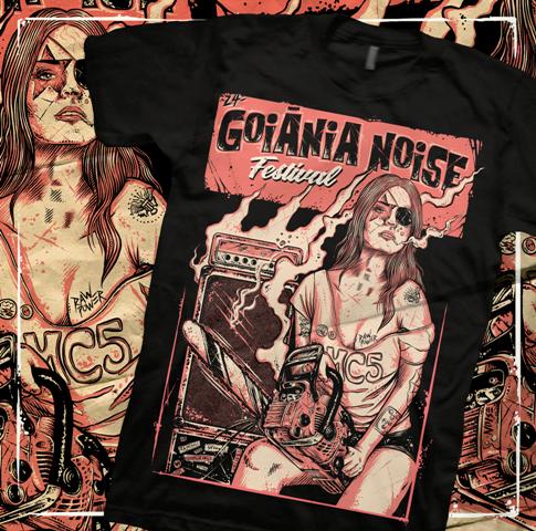 Camiseta 24º Goiânia Noise Festival - G
