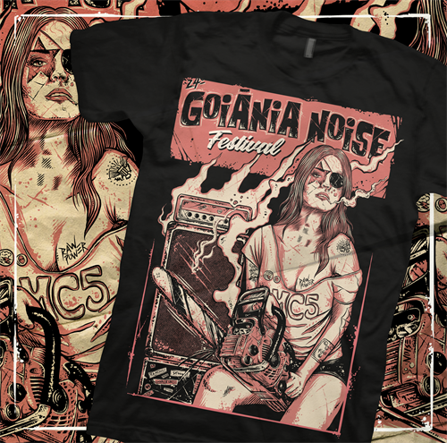 Camiseta 24º Goiânia Noise Festival - P