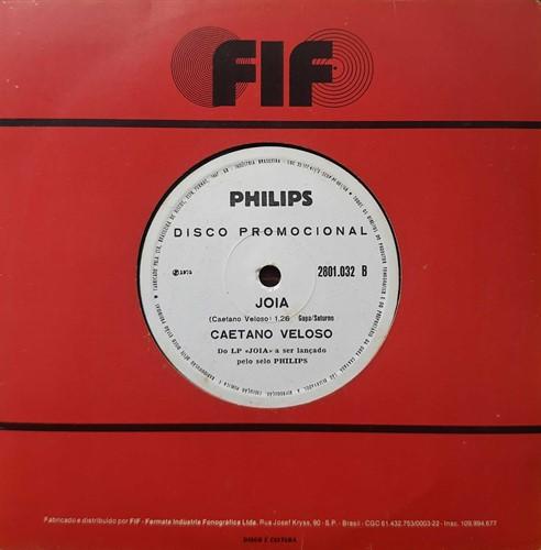Compacto Caetano Veloso - Joia/Qualquer Coisa (Usado) – 1975