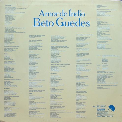 LP Beto Guedes – Amor de Índio (1978) (Vinil Usado)