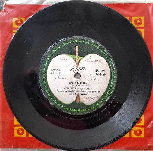 Compacto George Harrison - Apple Scruffs/ What Is Life (Usado) – 1971