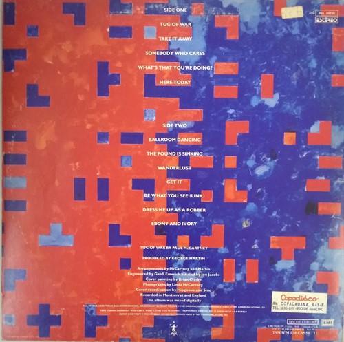 LP Paul McCartney - Tug Of War (Vinil usado)