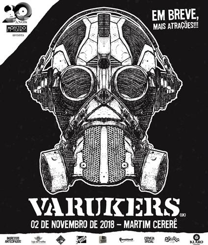Ingresso - Varukers - 1º LOTE (INTEIRA)