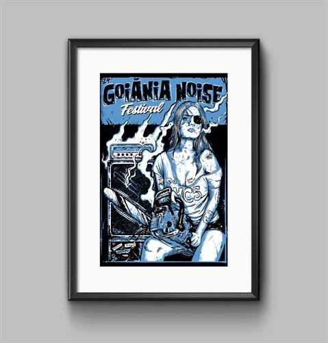 Pôster - 24º Goiânia Noise Festival (Azul)