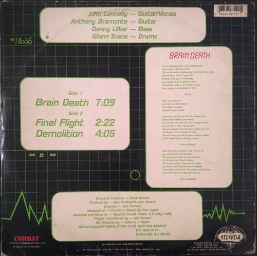 EP Nuclear Assault – Brain Death (1986) (Vinil usado)