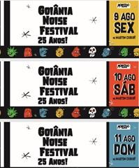 Passaporte promocional - 25º Goiânia Noise Festival