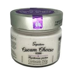 Cream cheese vegan azeitonas pretas 150g Superbom