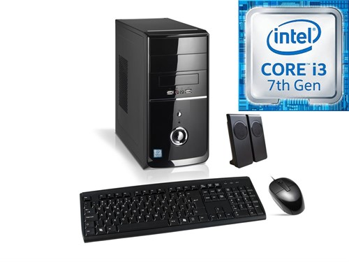 MICRO  INTEL I3-7100 4GB / 500GB  / DVD / LX /  H110 FREEDOS