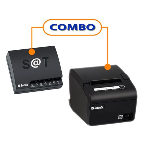SAT FISCAL SWEDA SS-1000 + IMPRESSORA SWEDA SI-300S USB GUILHOTINA