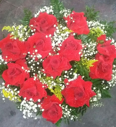 Bouquet 12 rosas colombianas