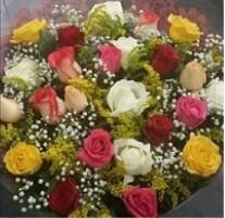 MEGA PROMOÇÃO DA SEMANA - Bouquet 24 rosas colorido - FRETE GRÁTIS*