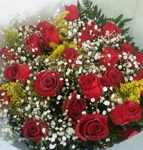 MEGA PROMOÇÃO DO DIA  - Bouquet 24 rosas VERMELHAS - Frete Grátis*
