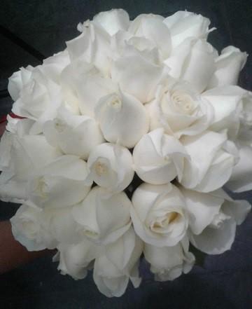 Bouquet de Noiva Rosas - Branca