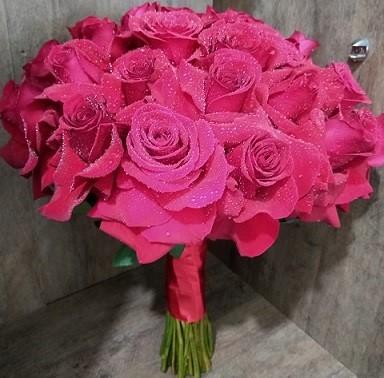 Bouquet de Noiva Rosas Colombianas - Vermelha