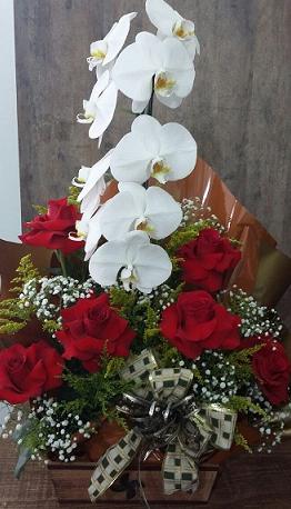 Orquídea com rosas colombianas