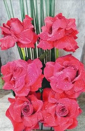 Lindo arranjo Rosas Colombianas com 06 unidades