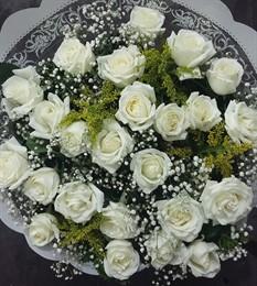 Bouquet 20 rosas brancas