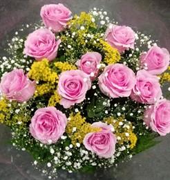 Bouquet 12 rosas rosa