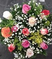 Bouquet 12 rosas colorido