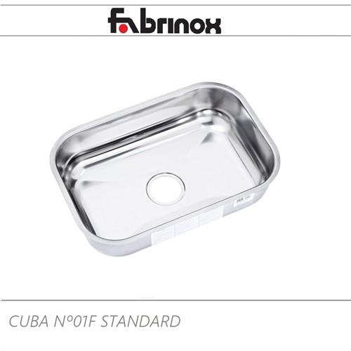 CUBA DE AÇO INOX Nº1F 460x300x140mm
