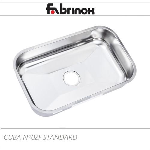 CUBA DE AÇO INOX Nº2F 560x340x140mm