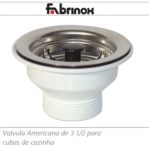 VALVULA AMERICANA 3 1/2 INOX/PVC